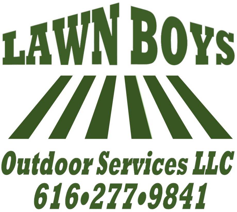 Lawn care landscaping snow plowing in caledonia lawn boys for Garden maintenance logo